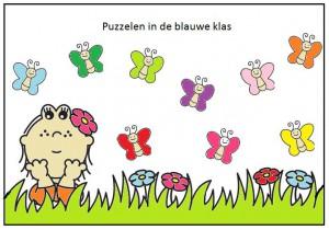 puzzelen in de blauwe klas